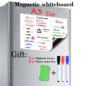 Image 1 - A3 גודל 297mm x 420mm לוח מגנטי מקרר מגנטים מצגת לוחות בית מטבח הודעה לוחות כתיבה מדבקת מגנטים