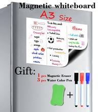 A3 tamanho 297mm x 420mm magnético quadro branco geladeira ímãs placas de apresentação cozinha casa placas de mensagem escrita adesivo ímãs