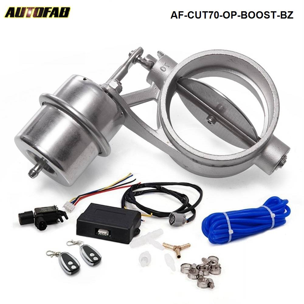 Exhaust Control Valve With Boost Actuator Cutout 70mm Pipe Opend with Wireless Remote Controller Set AF CUT70 OP BOOST BZ|valve control|valve exhaust|valve actuator - title=