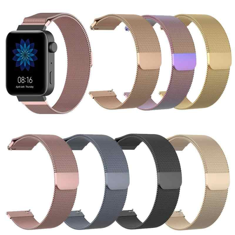 Stainless steel Watch strap For Xiaomi smart watch MIUI replacement watchband mental women strap for MI smart watch wriststrap