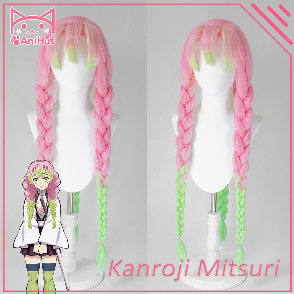 Kanroji Mitsuri Hair – .pink synthetic heat resistant hair kanroji mitsuri cosplay enjoy ✓free shipping worldwide!