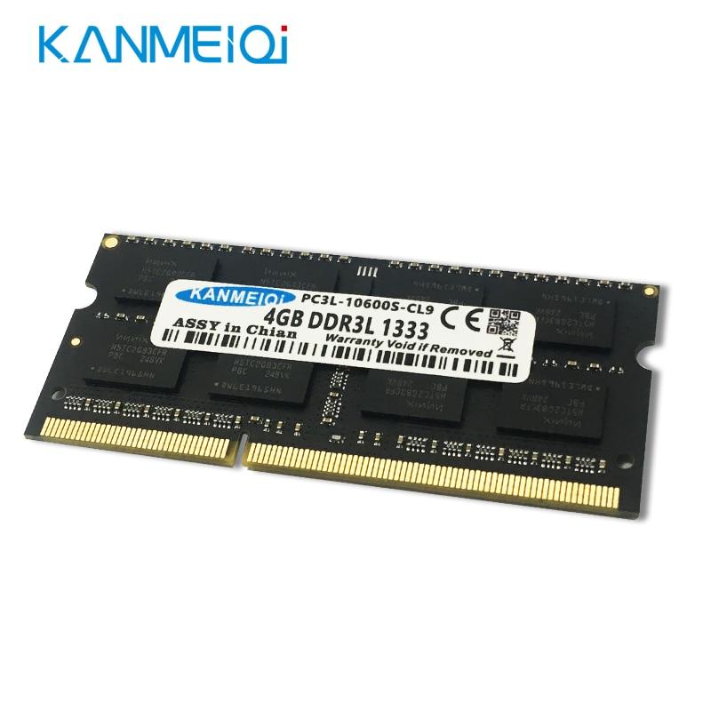 KANMEIQi DDR3L 4gb 1333/1600Mhz PC3 Laptop Memoria SO-DIMM Notebook ram 204Pin 1.35v New