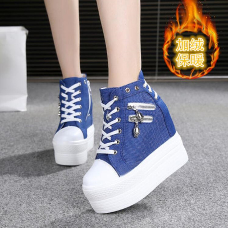 NEW Brand Hidden Heels Platform Sneakers Women Breathable Air Wedge Sock Shoes Woman Casual Ladies Boots Zapatos Mujer 2020 W05