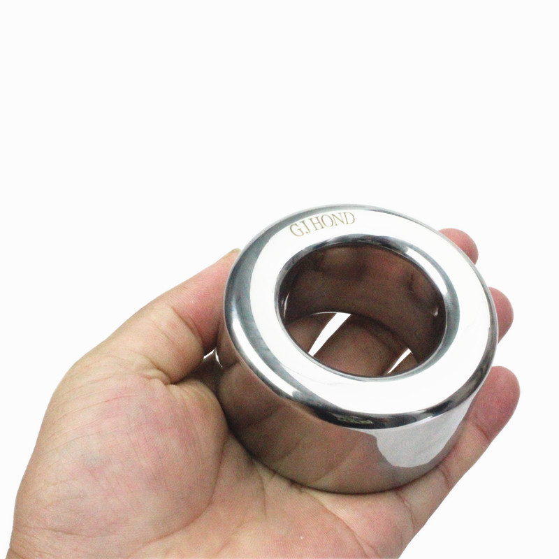 Stainless Steel Scrotum Root Ring Pendant Testicle Squeezer Ball Stretchers Penis Bondage Rings <font><b>Sexy</b></font> Toys for <font><b>Men</b></font> B2-2-<font><b>212</b></font> image