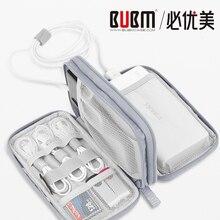 BUBM переносной аккумулятор защитный чехол, внешний аккумулятор сумка для переноски, жесткий диск мешочный кабель органайзер USB кабель сумка для наушников