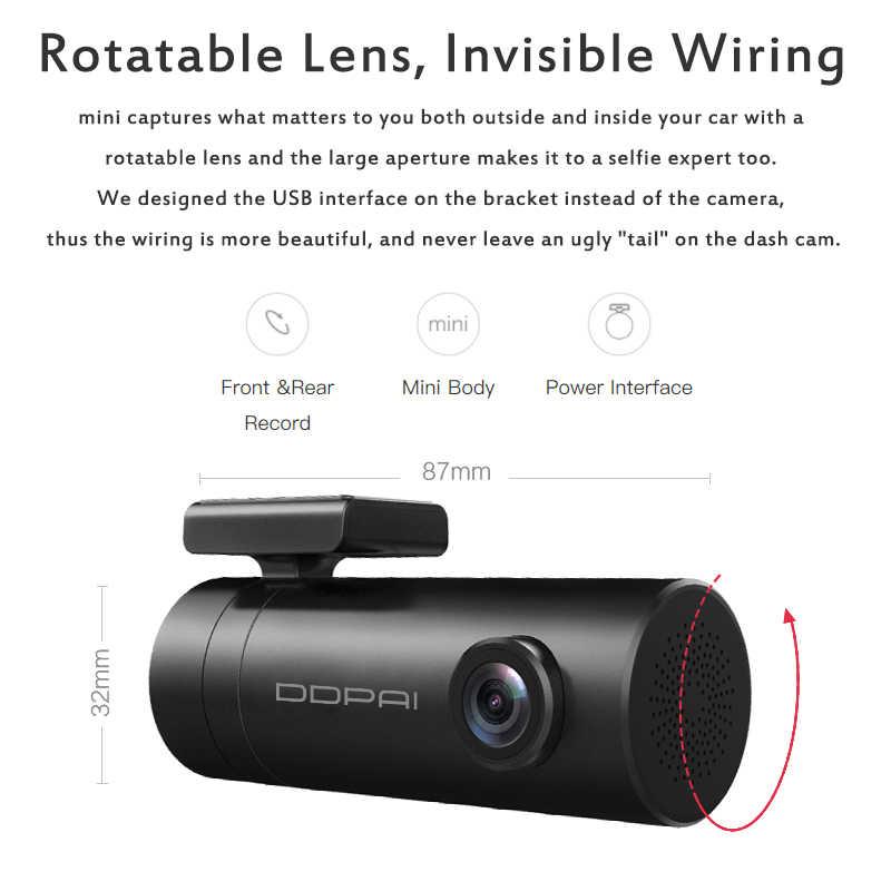 الأصلي DDPai داش كام واي فاي 1080P HD جهاز تسجيل فيديو رقمي للسيارات كاميرا التطبيق النسخة الإنجليزية سيارة كاميرا السيارات مسجل فيديو 140 درجة زاوية واسعة