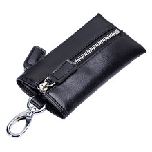 Vintage Multifunction Key Wallet Organizer Genuine Leather Coin Purse Men Car Key Wallets Women Cards Key Holder Cowhide Case new vintage genuine leather key holder car key wallets men double zipper key case bag pouch purse coin purse card holder