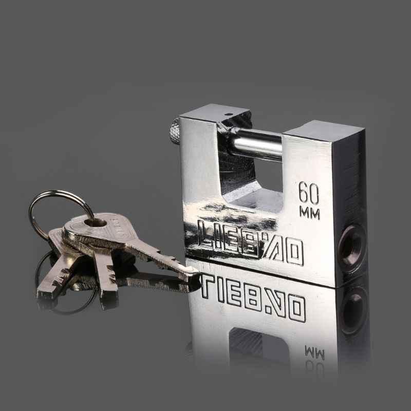 50mm Rtengtunn Candado antirrobo de Acero Inoxidable Cerradura de Seguridad de Seguridad Abertura Horizontal Antigua