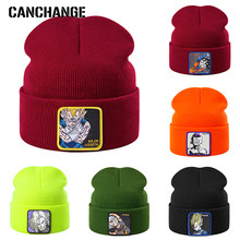 Japanse Anime Winter Hoeden Gebreide Borduren Logo Warm Skullies Beanie Skiën Knit Hoeden Hoed Hip Hop Dropshipping groothandel(China)