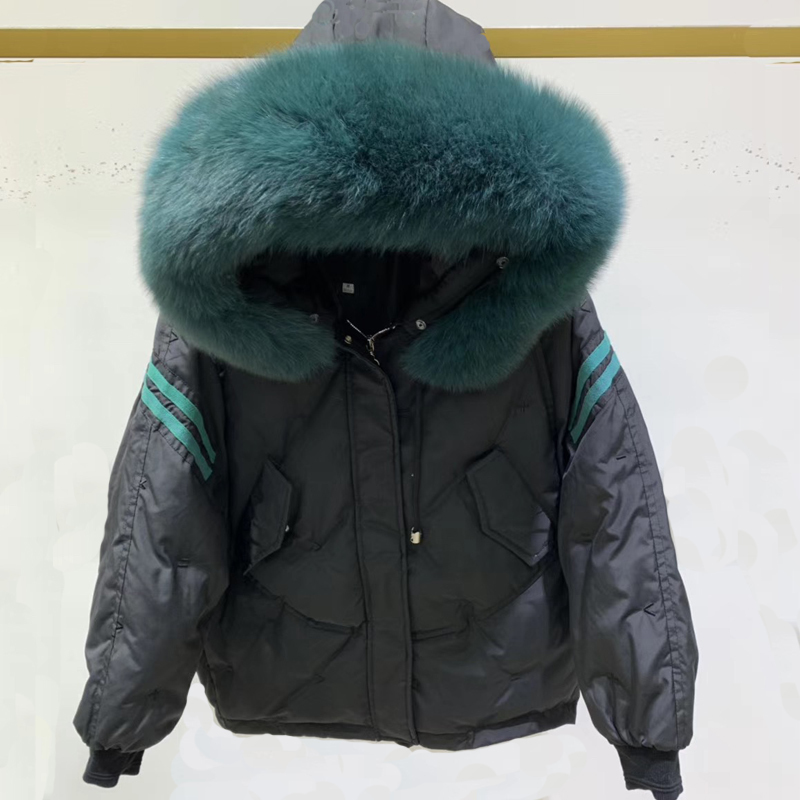 Winter Coat Women's Down Jacket Real Fox Fur Hooded Clothes 2019 Warm 90% Duck Down Jacket Female Down Parka Hiver LW2232