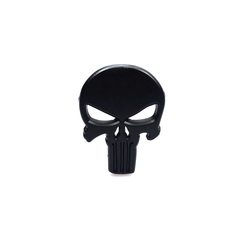 Image 3 - Metal Skull Punisher Skull Chrome Car Emblem Badge Logo Sticker-in Car Stickers from Automobiles & Motorcycles