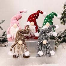 Feito à mão papai noel pano boneca presente de aniversário para casa natal decoração do feriado árvore de natal ornamentos de natal fontes de festa