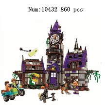 10432 Scooby Doo Series Mystery House Haunted Building Set Childrens  Assembled Blocks Toys Gifts
