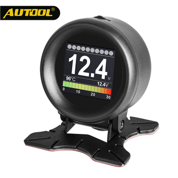 AUTOOL X60 OBD2 HUD OBD Car Digital Meters OBDII Head Up Display with Oil Thermometer Fuel Consumption Voltage Speeds for Auto car hud reflective film head up display system film obd fuel consumption overspeed display auto accessories