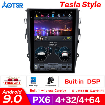"""12.1"""" pure Android 9.0 4+64G Car No DVD Player GPS Navigation For Ford Mondeo Fusion MK5 2013+ stereo auto unit multimedia Radio"""