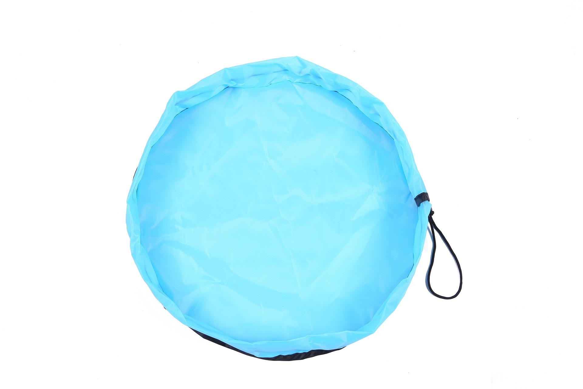 H0d8b46ed8fb84f8a80110924e51bbaf6Q 2020 Multifunctional baby toy fast storage bag play mat outdoor children's waterproof toy mat beam storage bag beach mat