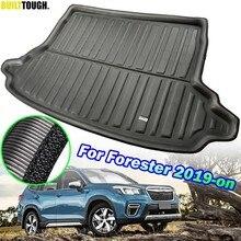 Para Subaru Forester 2019 SK 2020 5th MK5 Adaptados Do Carro Traseiro Tronco Tray Boot Forro De Carga Floor Mat Tapete Impermeável