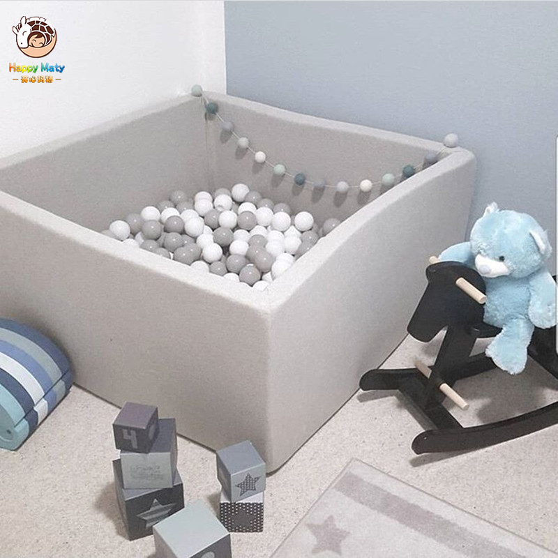 Baby Ocean Ball Pool Fencing Tent Grey Pink Blue Square Dry Pool Pit Play Game Tent For Children Birthday Gift Decor Party Room
