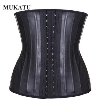 MUKATU Latex Waist Trainer Corset Belly Slim Belt Body Shaper Modeling Strap 25 Steel Boned Waist Cincher fajas colombianas