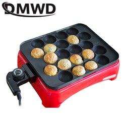 DMWD Octopus Ball Maker kuchenka elektryczna Takoyaki maszyna gospodarstwa domowego DIY stek grillowanie płyta smażenie forma 800W 22 otwory ue usa
