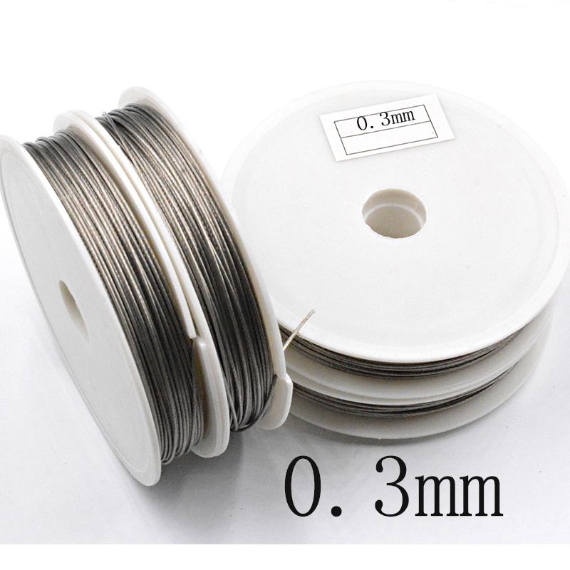 Stainless Steel Wire 0.3/0.38/0.45/0.5/0.6/0.7/0.8mm Never Fade Wire Cord Line Handmade DIY For Jewelry Making Bracelet&Necklace