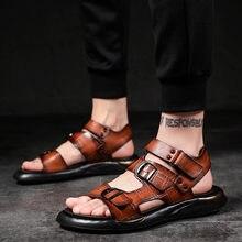 Сандалии мужские из натуральной кожи Классические римские сандалии
