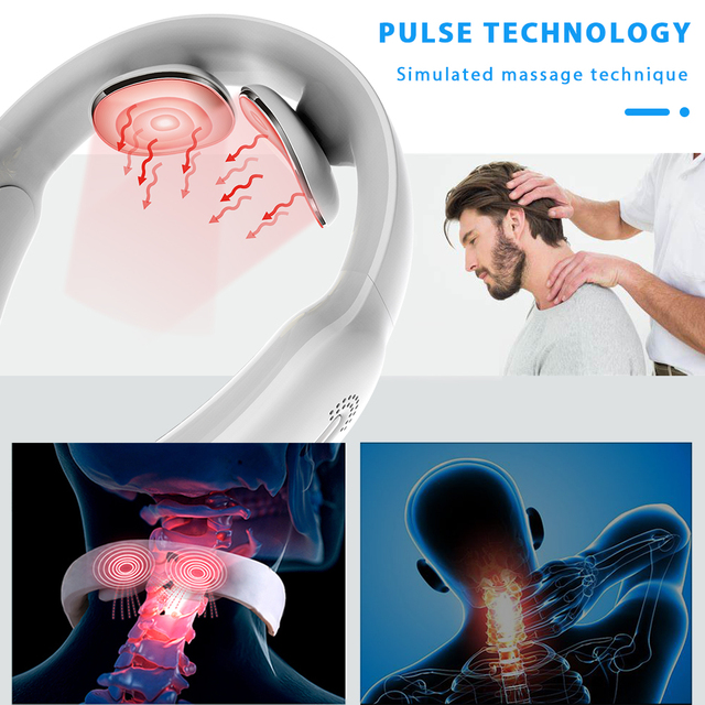 Smart Electric Neck and Shoulder Massager Low Frequency Heating Pain Relief Tool Health Care Relax Health Tool Relaxation 3