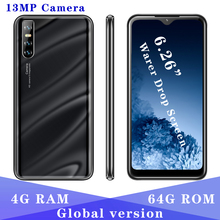 Original V18 Quad Core 4G RAM 64G ROM Global Version smartphones 5MP+13MP 6 26 #8243 Water Drop screen Mobile Phones Face id Unlocked cheap BYLYND Detachable 64GB Android Face Recognition Up To 48 Hours 3200 Adaptive Fast Charge Smart Phones Bluetooth 5 0 Capacitive Screen