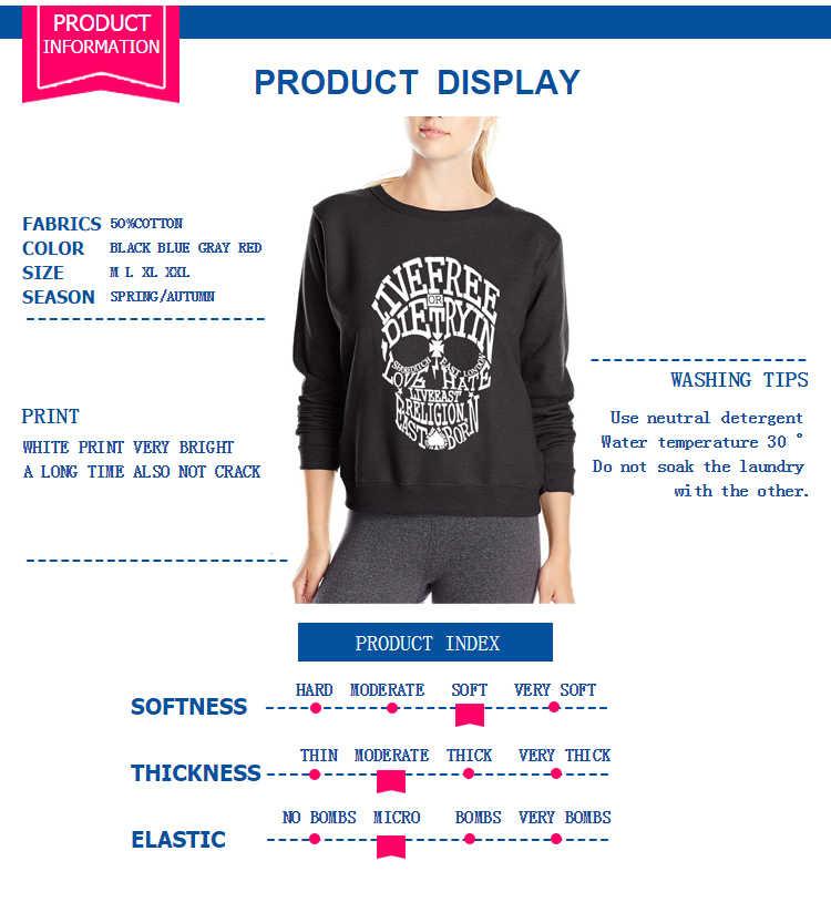 New arrival 2020 wiosna zima rock bluza punkowa kobiety hiphopowy sweter bluzy z czaszką moda marka slim fit dres
