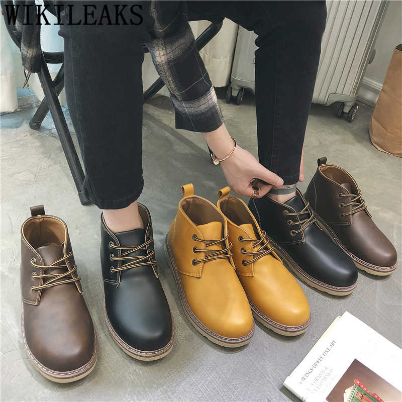 Zapatos de cuero de los hombres de moda de alta arriba zapatillas de deporte Zapatos de diseñador de los hombres de alta calidad para Hombre Zapatos casuales zapatos de Venta caliente мужская кожаная обувь
