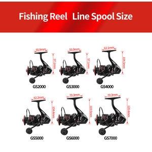 Image 3 - LINNHUE New Fishing Reel Full Metal Spool Spinning Reel 5.0:1 Max Drag 10Kg Power Smooth Sea Carp Fishing Reel Black