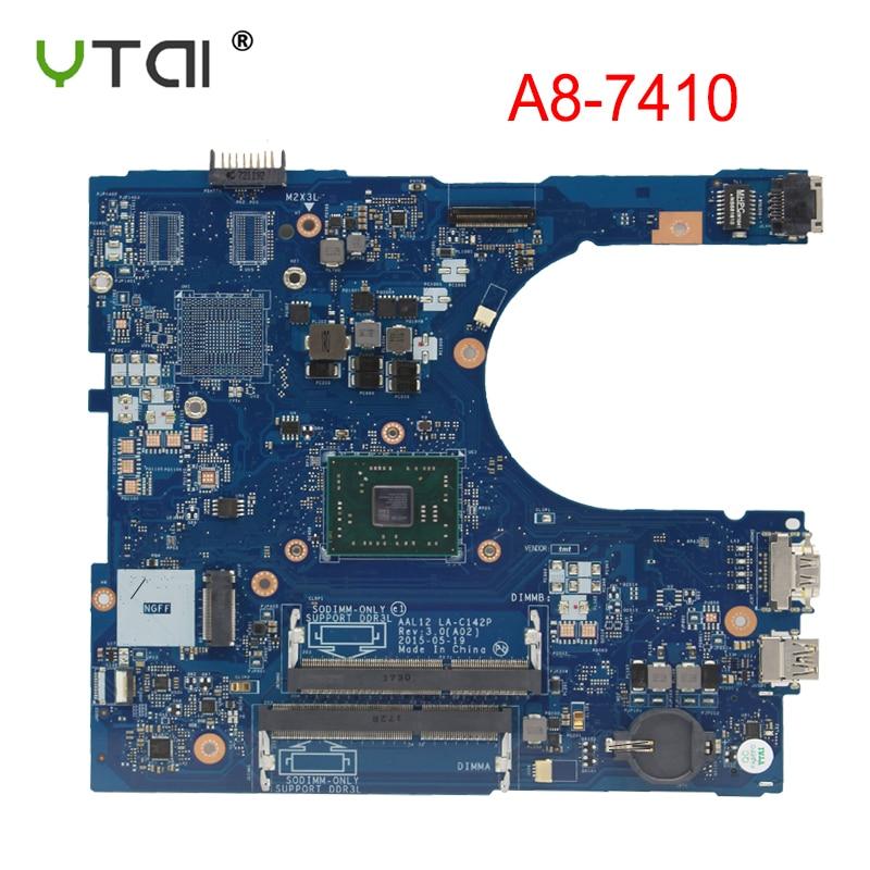 AAL12 LA C142P Voor Dell Inspiron 15 5555 5455 Laptop moederbord A8 7410 CPU REV: 3.0 CN 01N0C6 01N0C6 100% getest intact-in Moederborden van Computer & Kantoor op AliExpress - 11.11_Dubbel 11Vrijgezellendag 1