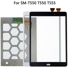 Originale Per Samsung Galaxy Tab E SM T550 T550 T555 Display LCD Touch Screen Sensore di Vetro Digitizer Pannello di T550 LCD Touch pannello