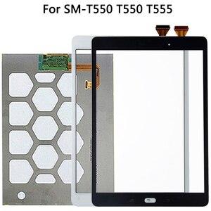 Image 1 - Orijinal Samsung Galaxy Tab için E SM T550 T550 T555 dokunmatik LCD ekran ekran sensörü cam sayısallaştırma paneli T550 LCD dokunmatik Panel