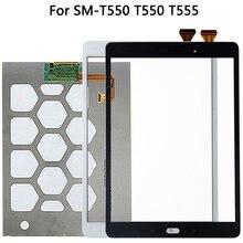 オリジナル三星銀河タブ e SM T550 T550 T555 lcd ディスプレイタッチスクリーンセンサースクリーンガラスデジタイザパネル T550 液晶タッチパネル
