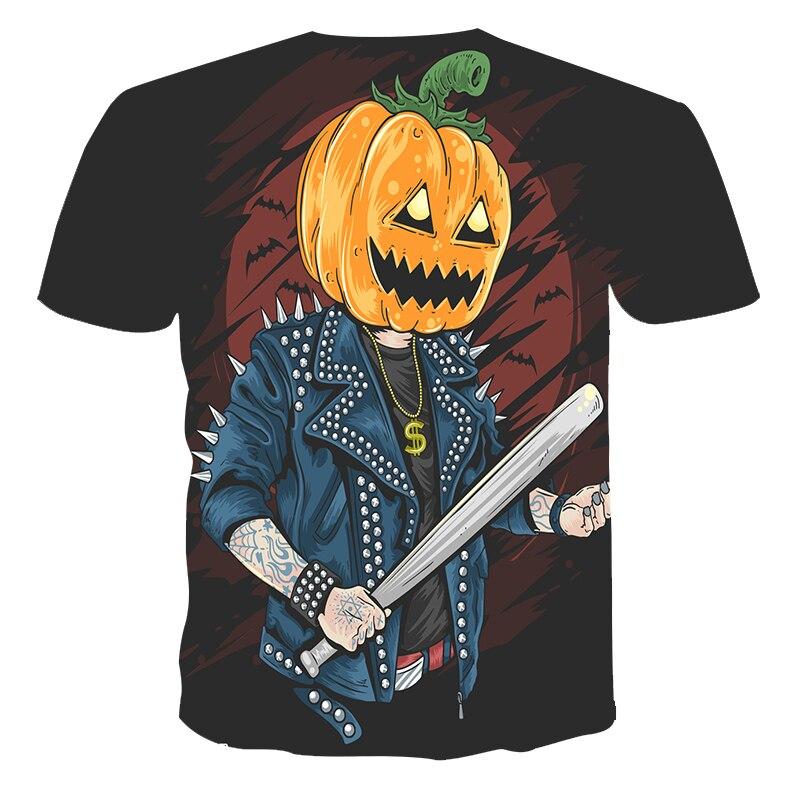 Mesdames monté Homme Unisexe Kids Glow in the Dark citrouille lanterne Jack-O T-Shirt