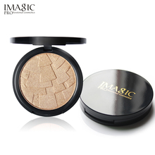 IMAGIC Face Highlighter Powder Palette Makeup Shimmer Brightening Make Up Powder Highlighter Bronzer Cosmetics highlighter professional 10 colors blush palette makeup naked blusher bronzer powder palette brand new face cosmetics make up shimmer matte
