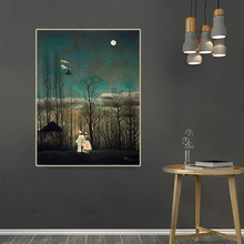 Citon Henri·Rousseau《Carnival Evening》Canvas Oil painting Artwork Poster Picture Wall Decor Modern Home Living room Decoration