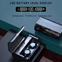 G06 TWS беспроводные наушники Bluetooth 5,0 Наушники дисплей питания сенсорный контроль спортивные стерео беспроводные наушники гарнитура зарядная коробка