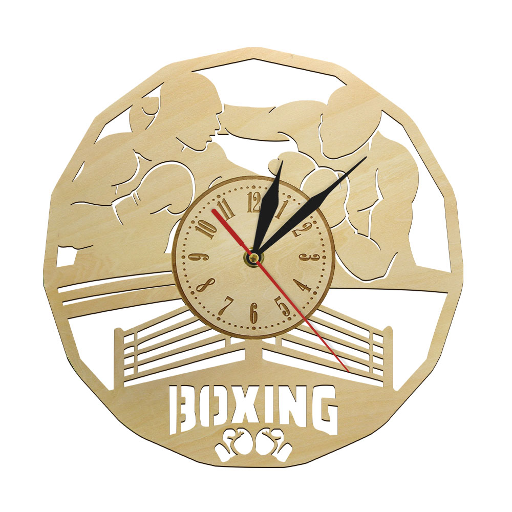 Boxing Boxer Men Decorative Silent Wall Clock Housewarming Wall Watch Boxing Accessory GYM Fighting Art Wall Decor Gift For Men