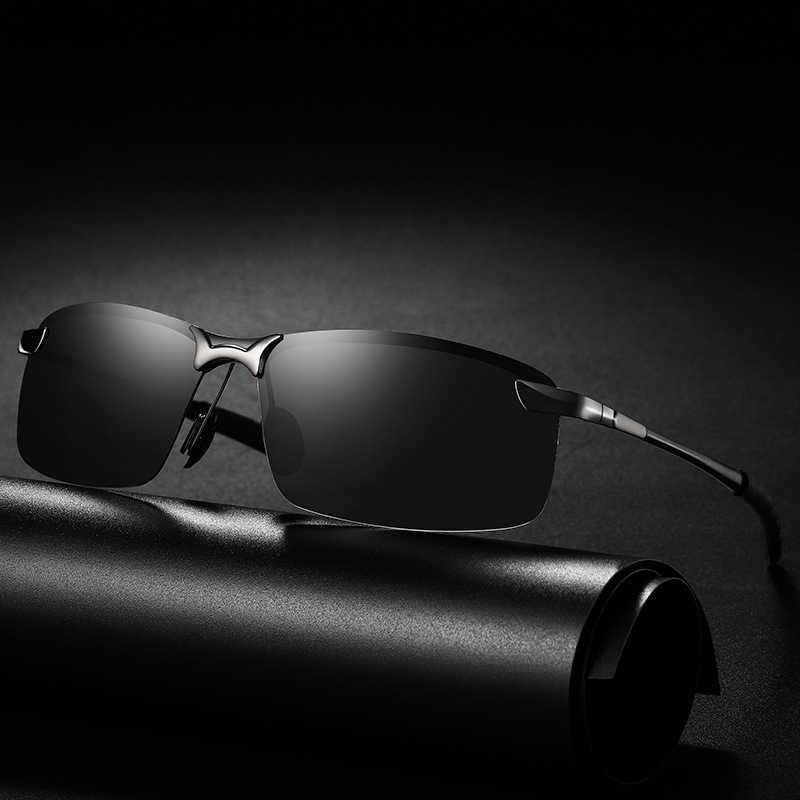 فوتوكروميك النظارات الشمسية الرجال الاستقطاب الحرباء نظارات الذكور تغيير لون نظارات شمسية يوم للرؤية الليلية القيادة نظارات uv400