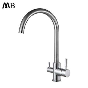 Drinking Water Faucet 3 Way Water Filter Purifier Kitchen Faucets For Sinks Taps 304 Stainless Steel Faucet Brushed Water Tap - DISCOUNT ITEM  50% OFF All Category