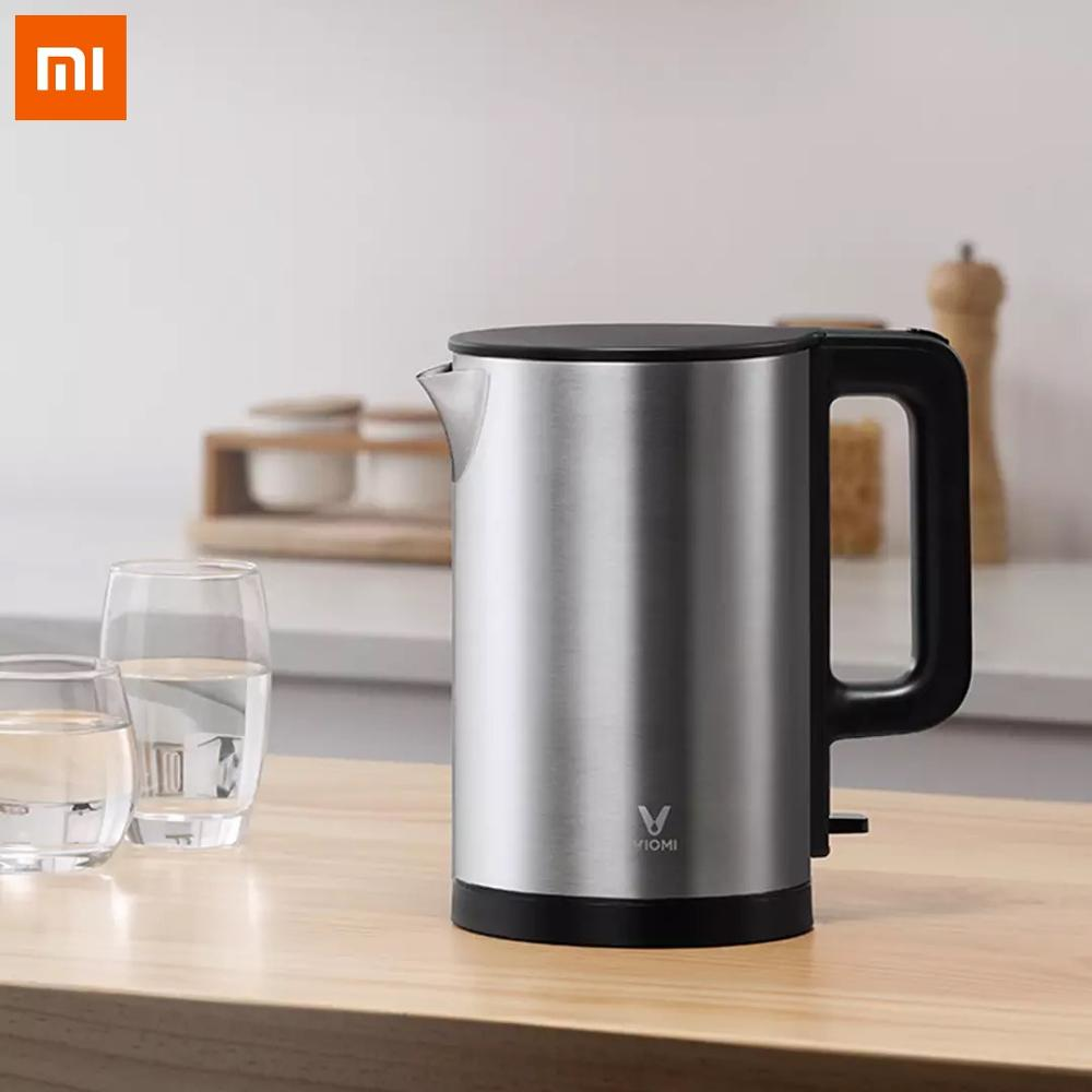 Xiaomi Viomi Electric Kettle Stainless Steel Water Kettle 220V 1800W 1.5L Heating Pot Teapot Quick Heating From Xiaomi