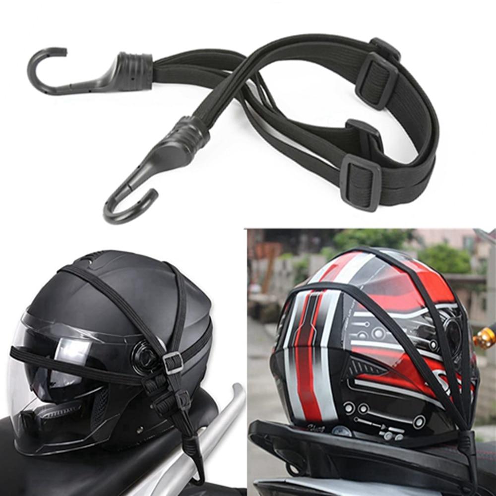 Correas universales de 60cm para casco de motocicleta, equipaje retráctil de fuerza para motocicleta, correa de cuerda elástica, bolsa de equipaje