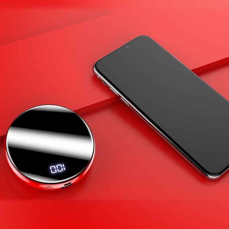 30000mAh المحمولة باور بانك صغير مرآة الشاشة الرقمية ديسبلي بنك بطارية خارجية حزمة Powerbank للهواتف النقالة الذكية