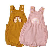 Baby Girls Jumpsuit Clothing Romper Boys Knit Toddler Pure-Cotton Strap Old 0-2years