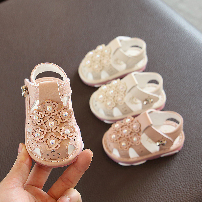 2020 New Infant Toddler Girls Sandals 1-2 Years Baby Shoes Princess Clogs Baby Girl First Walkers