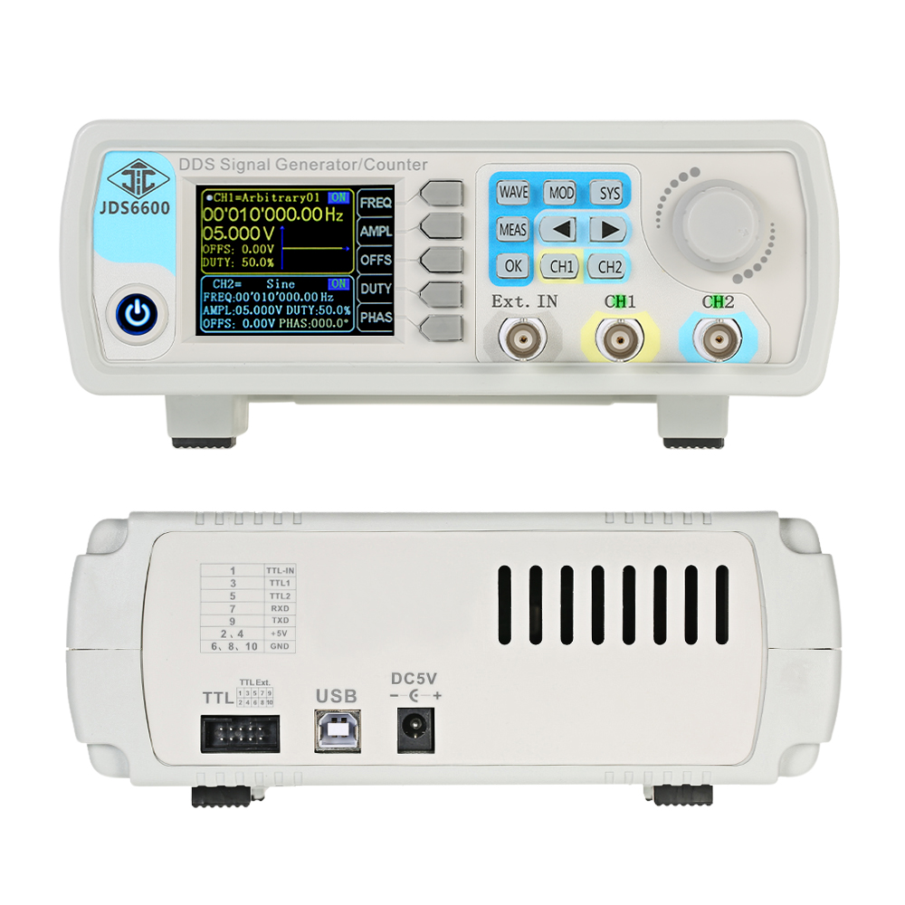 High Accuracy Digital Dual-channel DDS Function Signal Generator Arbitrary Waveform Pulse Signal Generators Frequency Meter