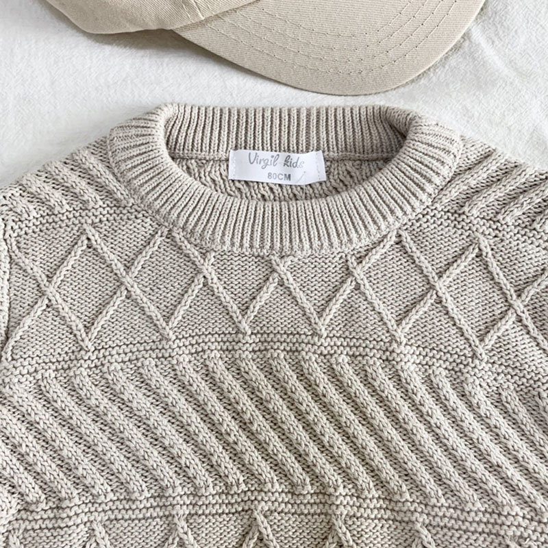 New Baby Kids Boys Long Sleeve Knit Pure Color Sweater Autumn Winter Baby Kids Boys Pullover Sweaters Children's Clothes 5