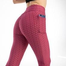 Mallas con bolsillo anticelulitis para mujer, mallas Push Up de cintura alta para entrenamiento, correr, Fitness, gimnasio, mallas